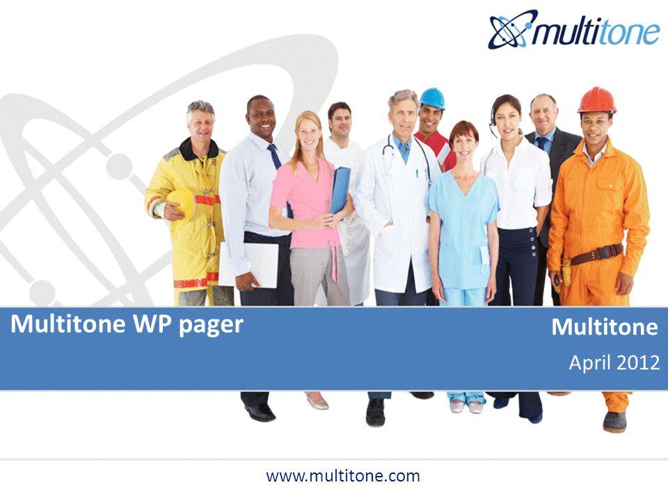 Multitone WP pager Multitone April 2012 www.multitone.com