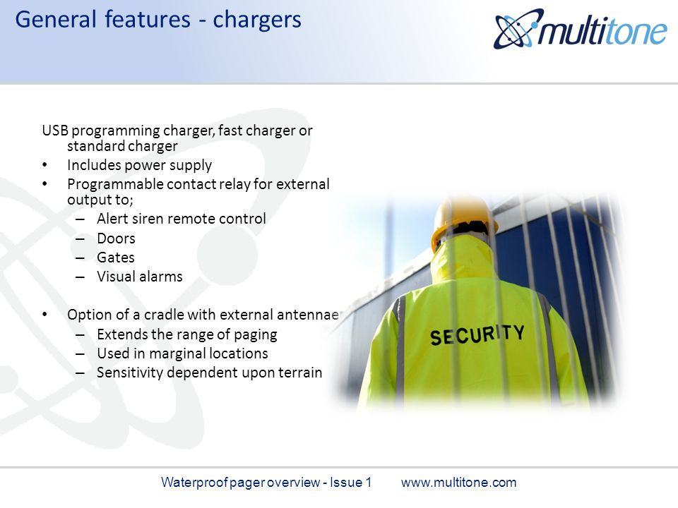 General features - chargers