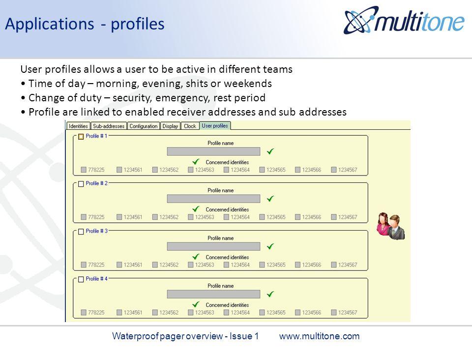 Applications - profiles