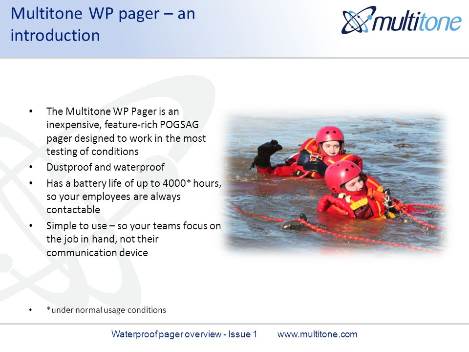 Multitone WP pager – an introduction