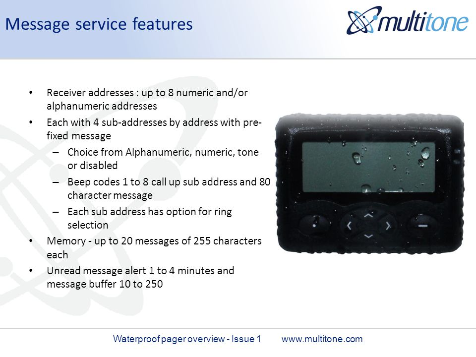 Message service features