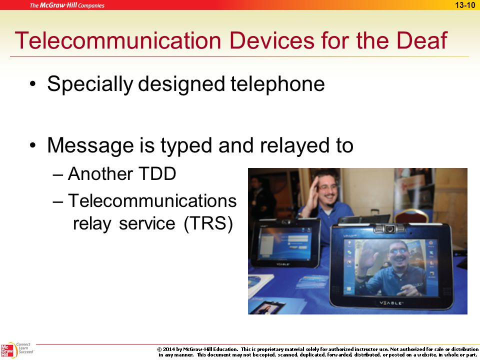 Telecommunication Devices for the Deaf