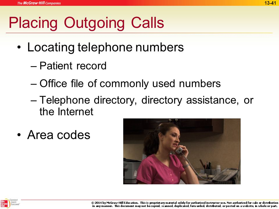 Placing Outgoing Calls