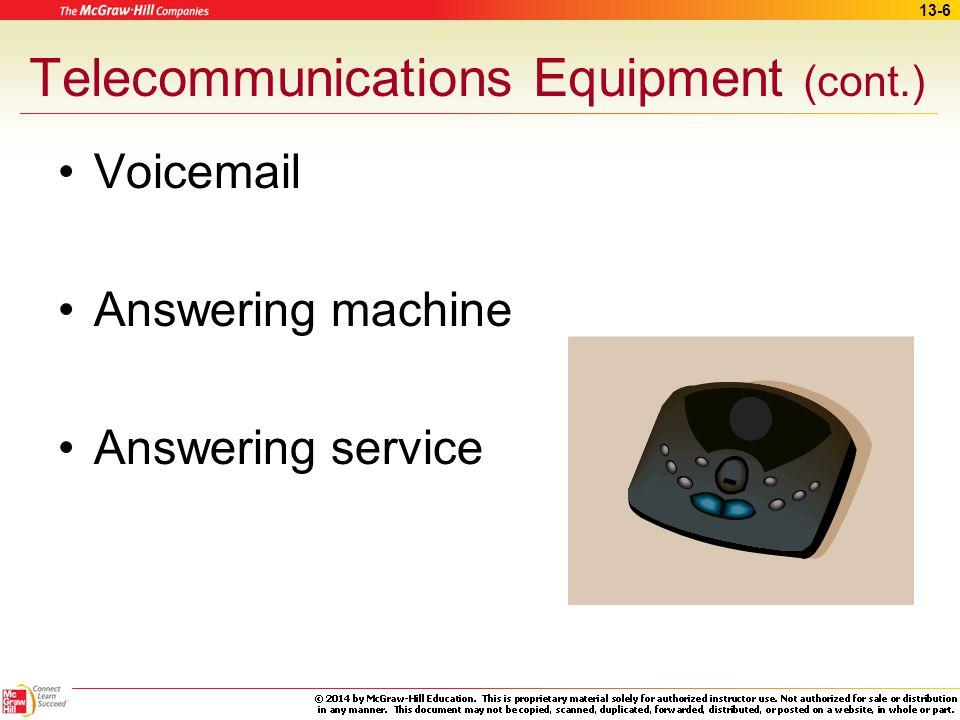 Telecommunications Equipment (cont.)