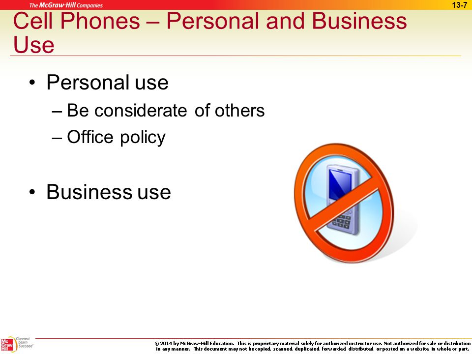 Cell Phones – Personal and Business Use