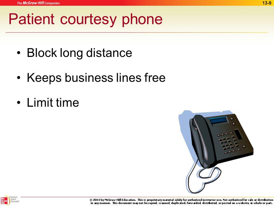 Patient courtesy phone
