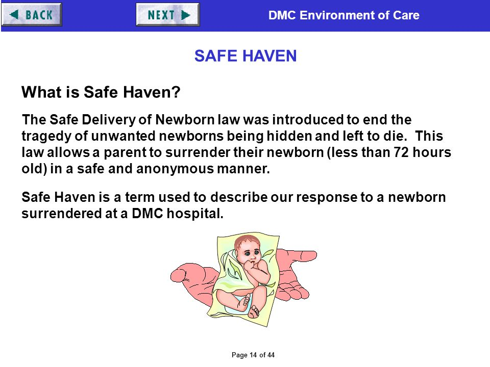 SAFE HAVEN What is Safe Haven