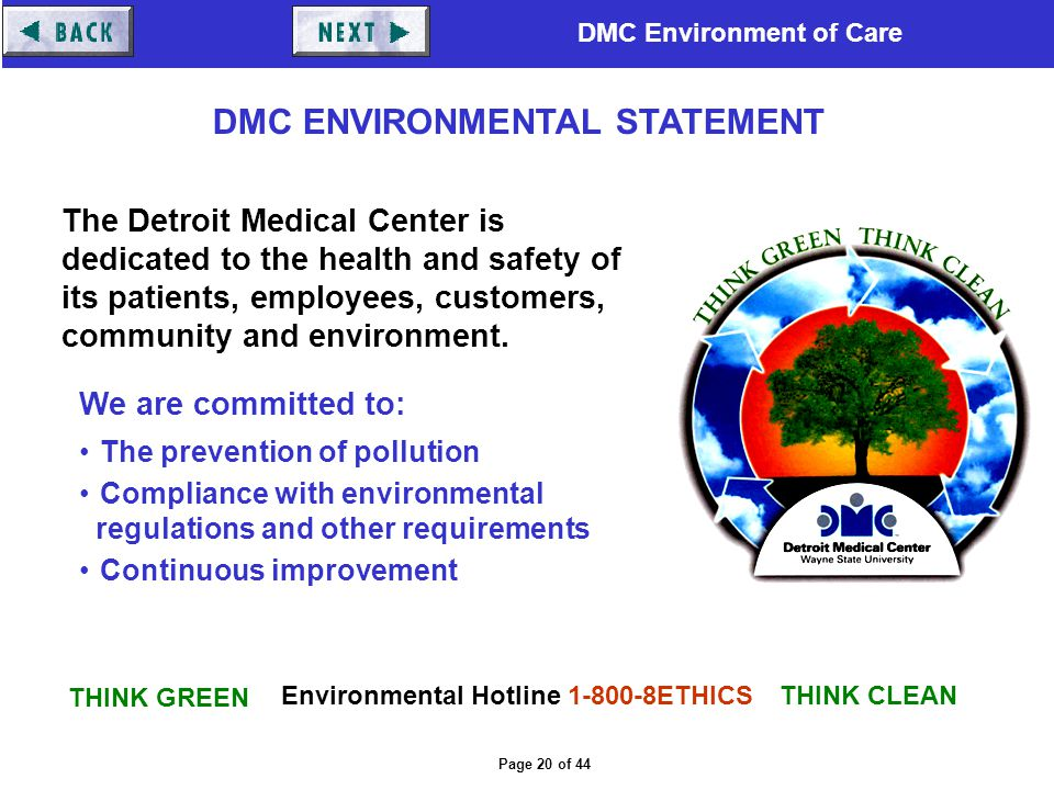 Environmental Hotline 1-800-8ETHICS