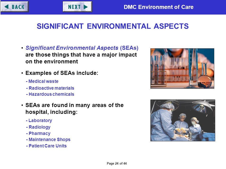 SIGNIFICANT ENVIRONMENTAL ASPECTS