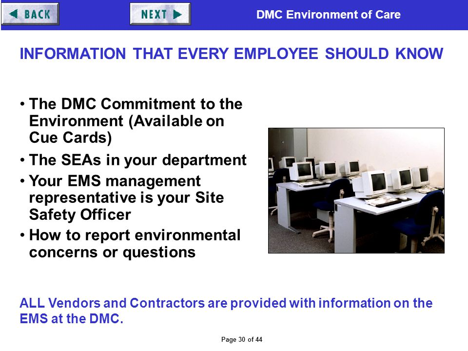 INFORMATION THAT EVERY EMPLOYEE SHOULD KNOW