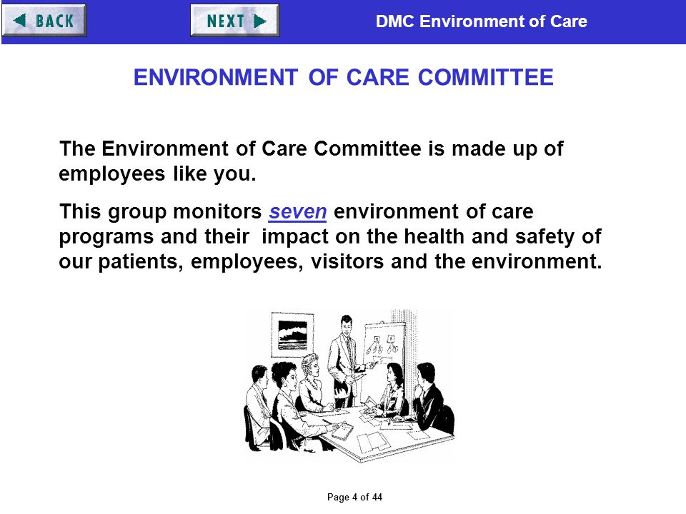 ENVIRONMENT OF CARE COMMITTEE