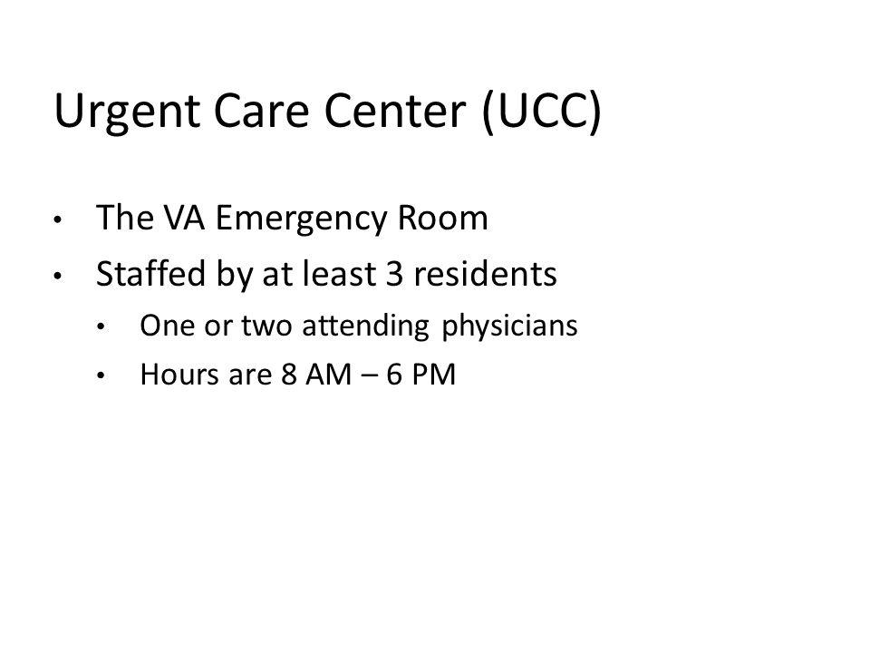 Urgent Care Center (UCC)