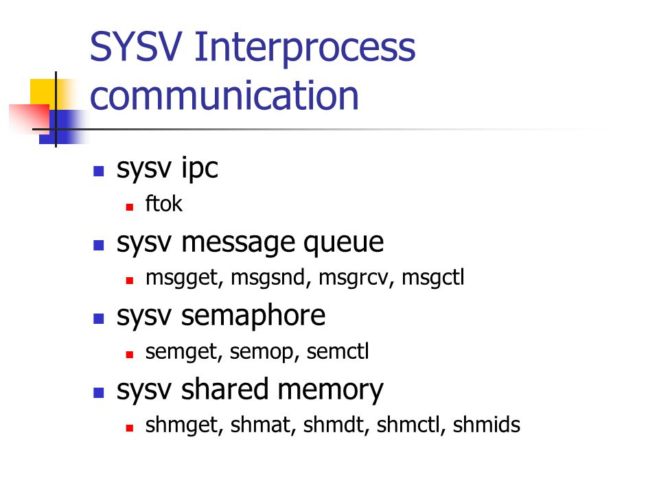 SYSV Interprocess communication