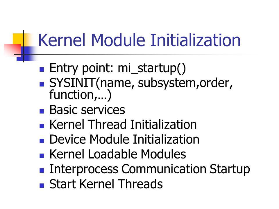 Kernel Module Initialization