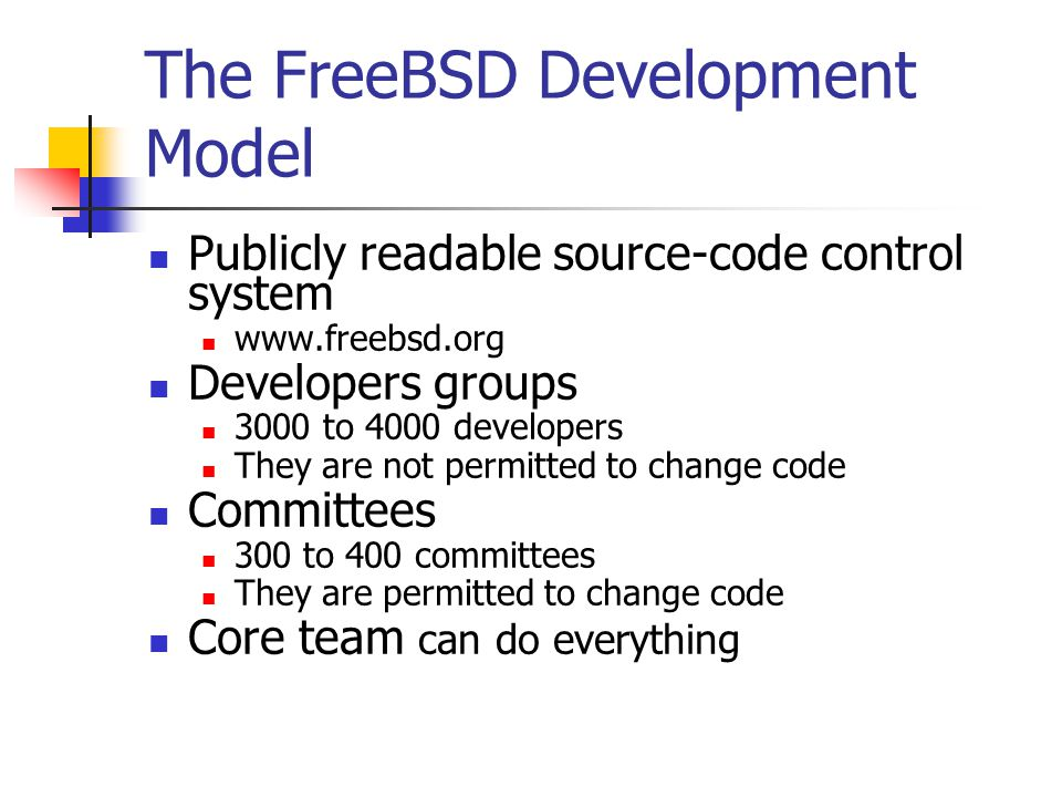 The FreeBSD Development Model