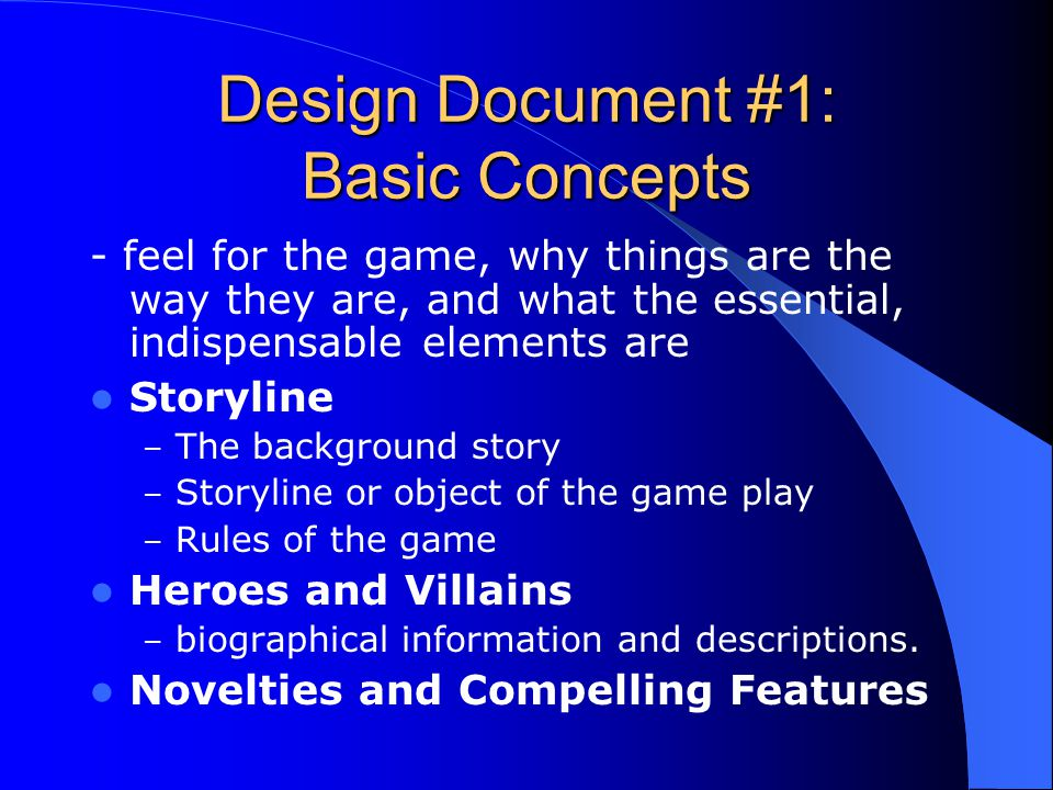 Design Document #1: Basic Concepts