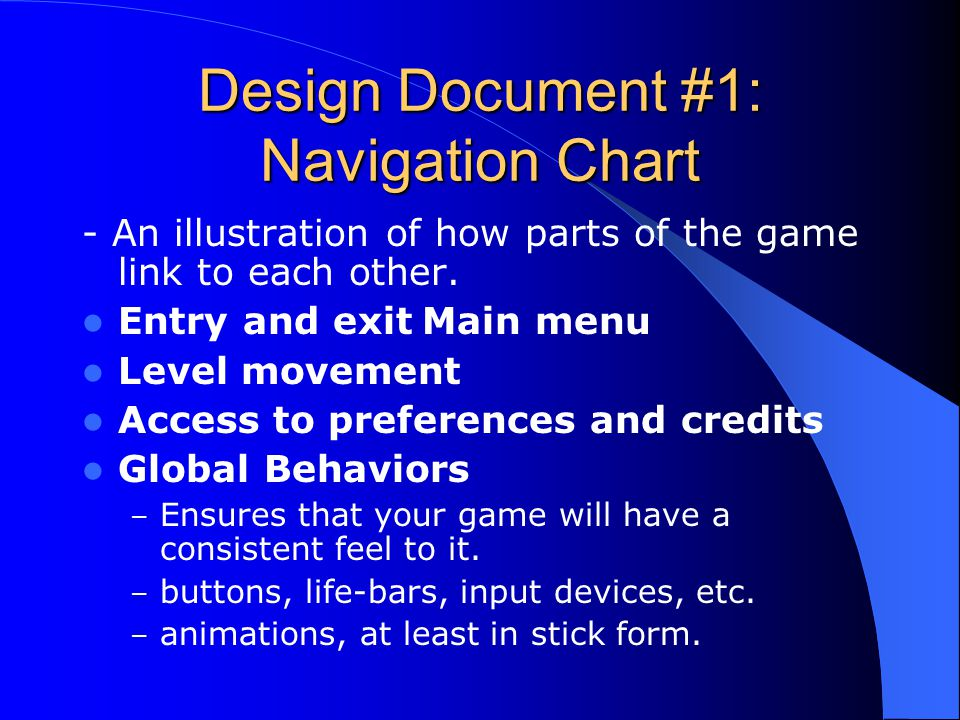 Design Document #1: Navigation Chart