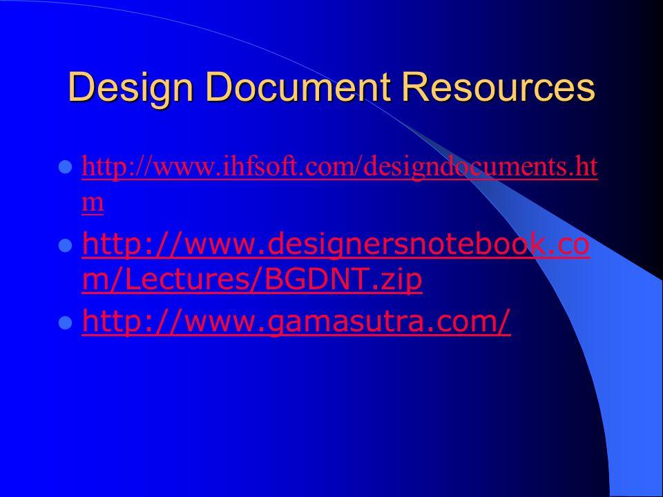 Design Document Resources