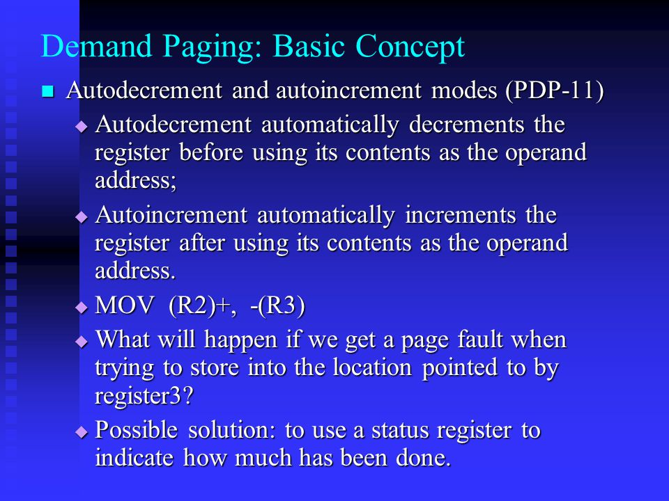 Demand Paging: Basic Concept
