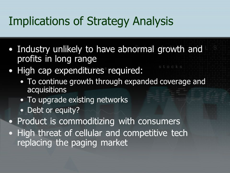 Implications of Strategy Analysis
