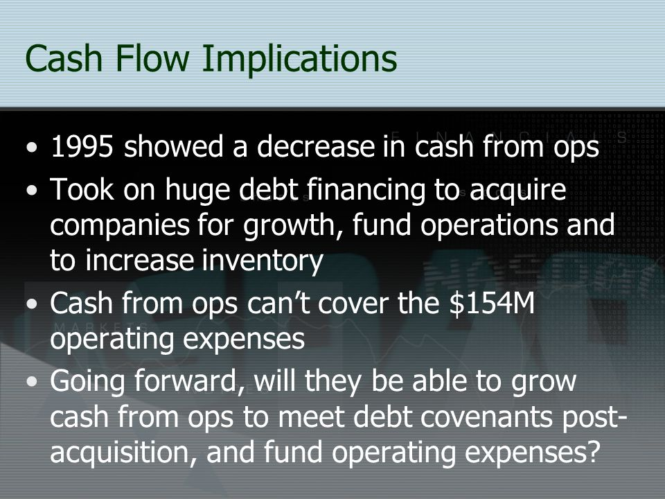 Cash Flow Implications