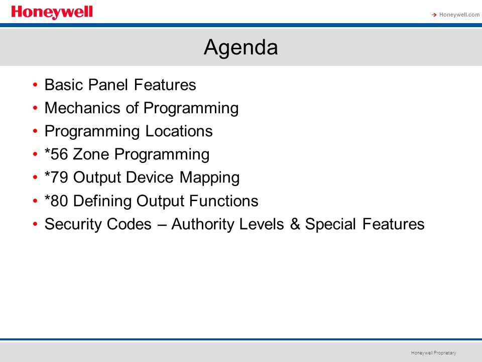 Agenda Basic Panel Features Mechanics of Programming