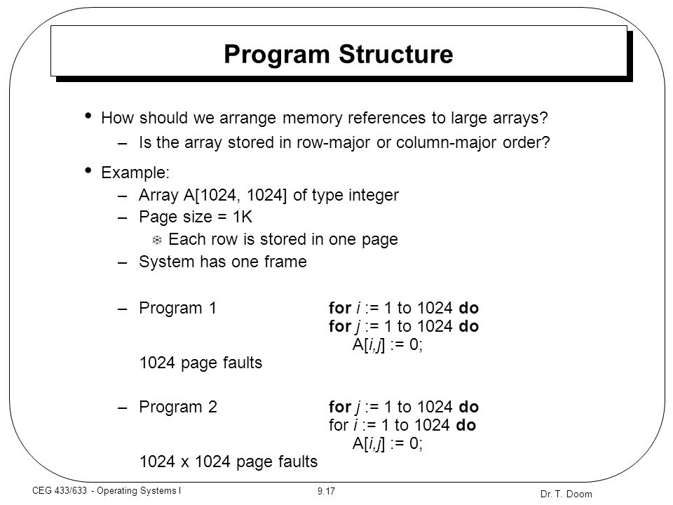 CEG 433/633 - Operating Systems I