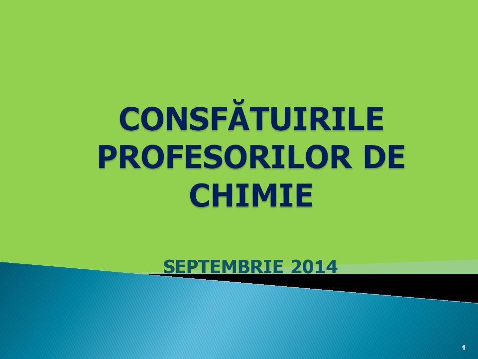 CONSFĂTUIRILE PROFESORILOR DE CHIMIE
