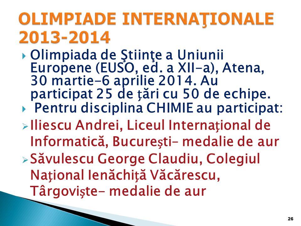 OLIMPIADE INTERNAŢIONALE 2013-2014