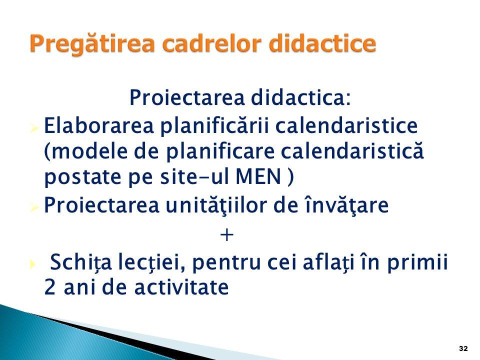 Pregătirea cadrelor didactice