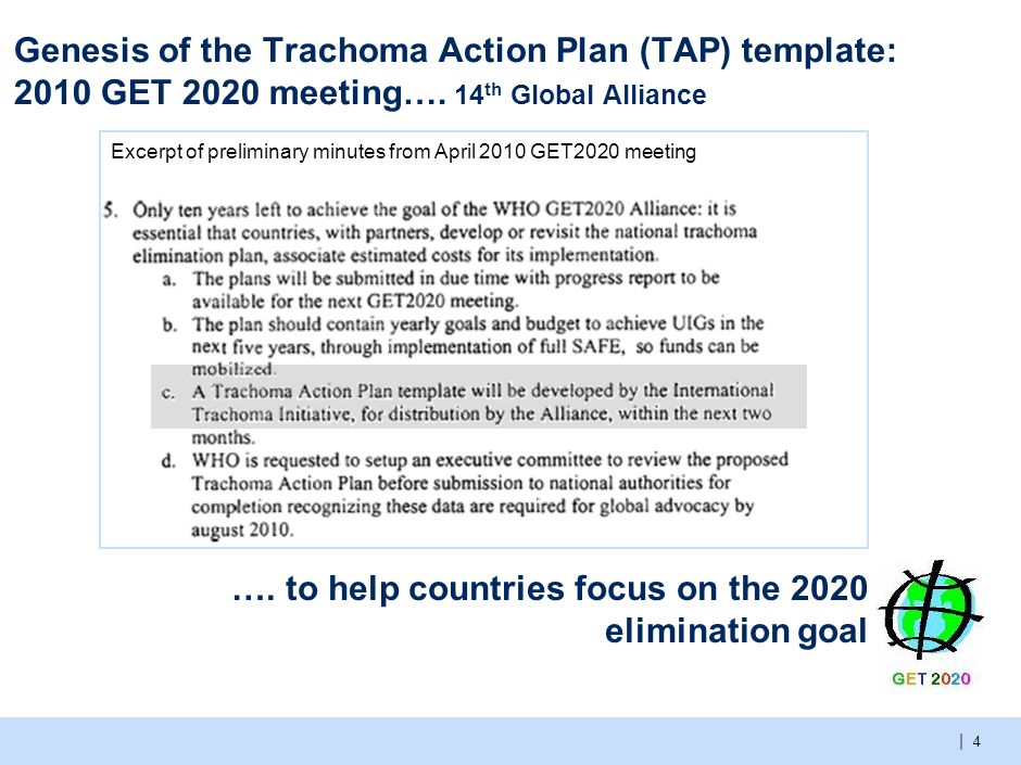 Trachoma action plan template Pilot: Kenya; March 2011