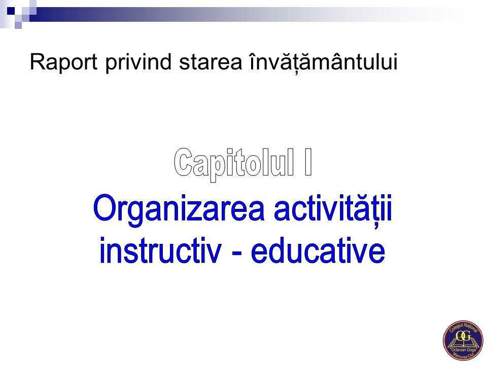 Raport privind starea învăţământului