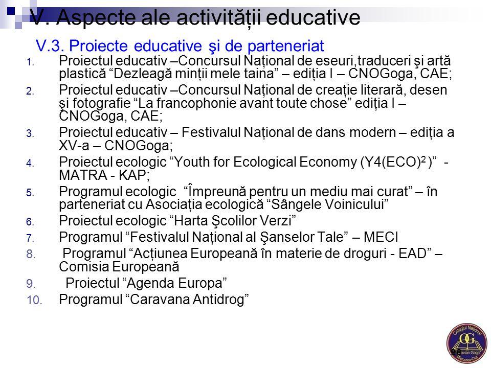 V. Aspecte ale activităţii educative V. 3