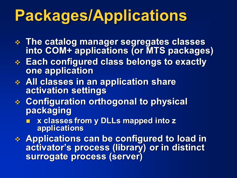 Packages/Applications