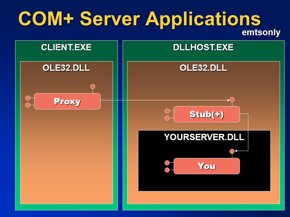 COM+ Server Applications