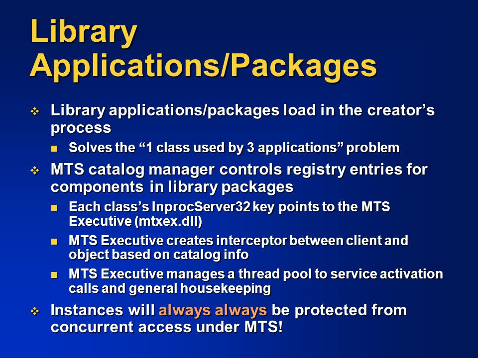 Library Applications/Packages