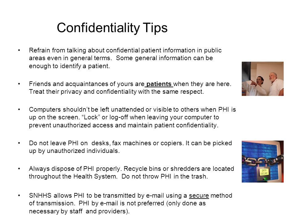 Confidentiality Tips