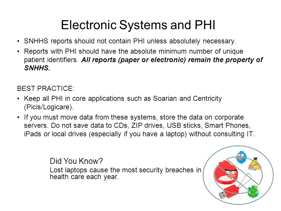 Electronic Systems and PHI