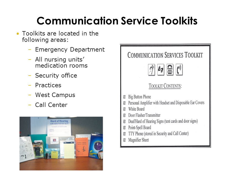 Communication Service Toolkits
