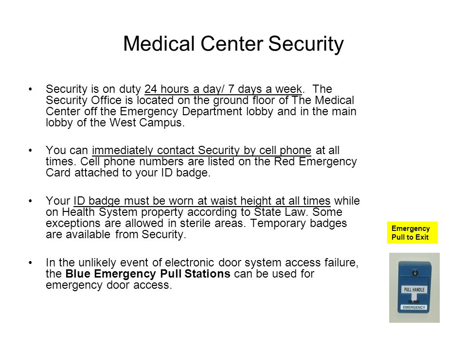 Medical Center Security