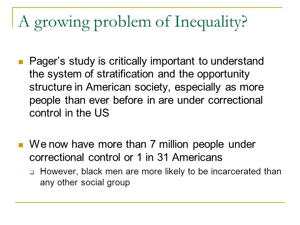 A growing problem of Inequality