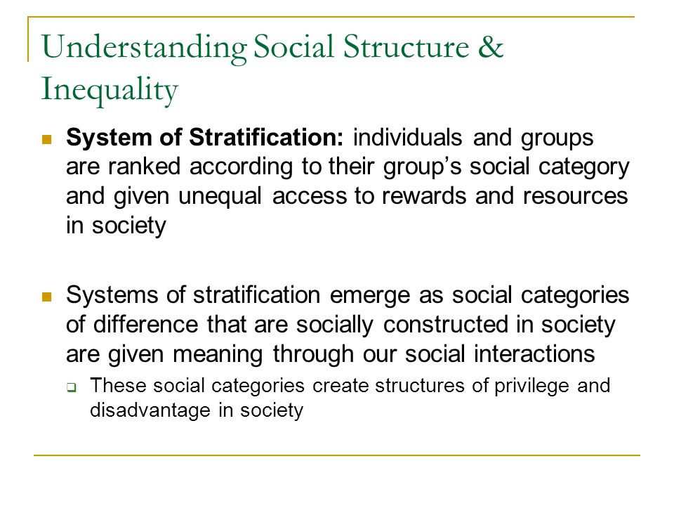 Understanding Social Structure & Inequality