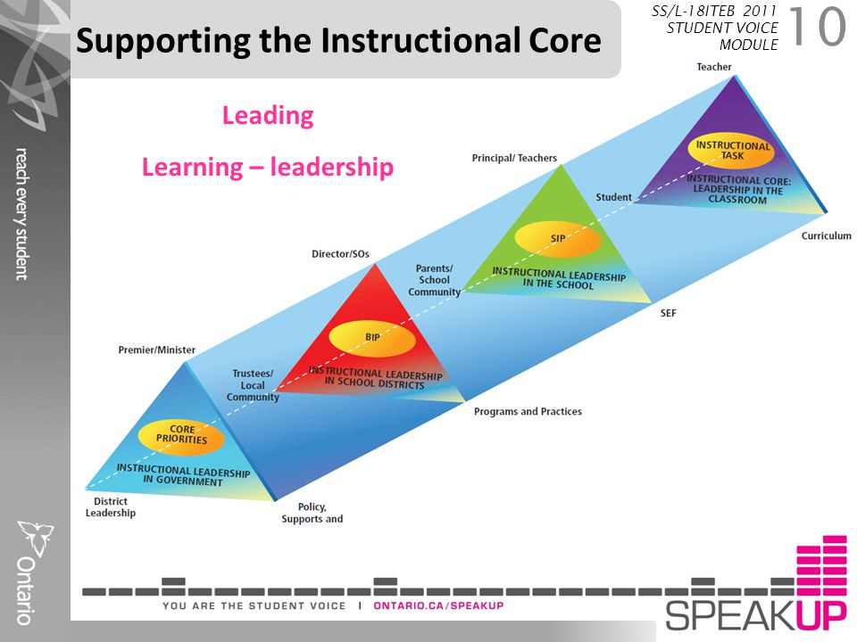 Supporting the Instructional Core