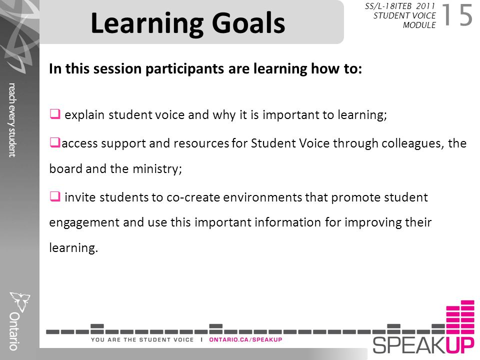 Learning Goals In this session participants are learning how to: