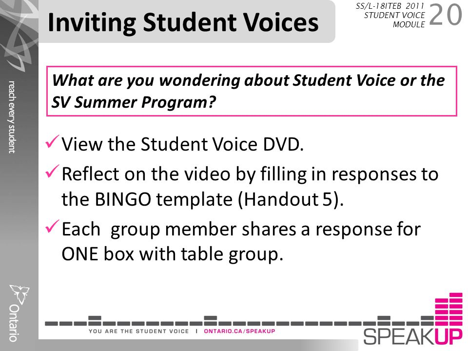 Inviting Student Voices