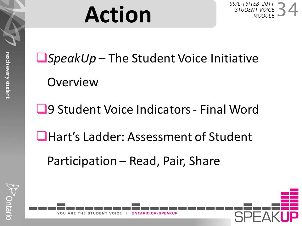 Action SpeakUp – The Student Voice Initiative Overview