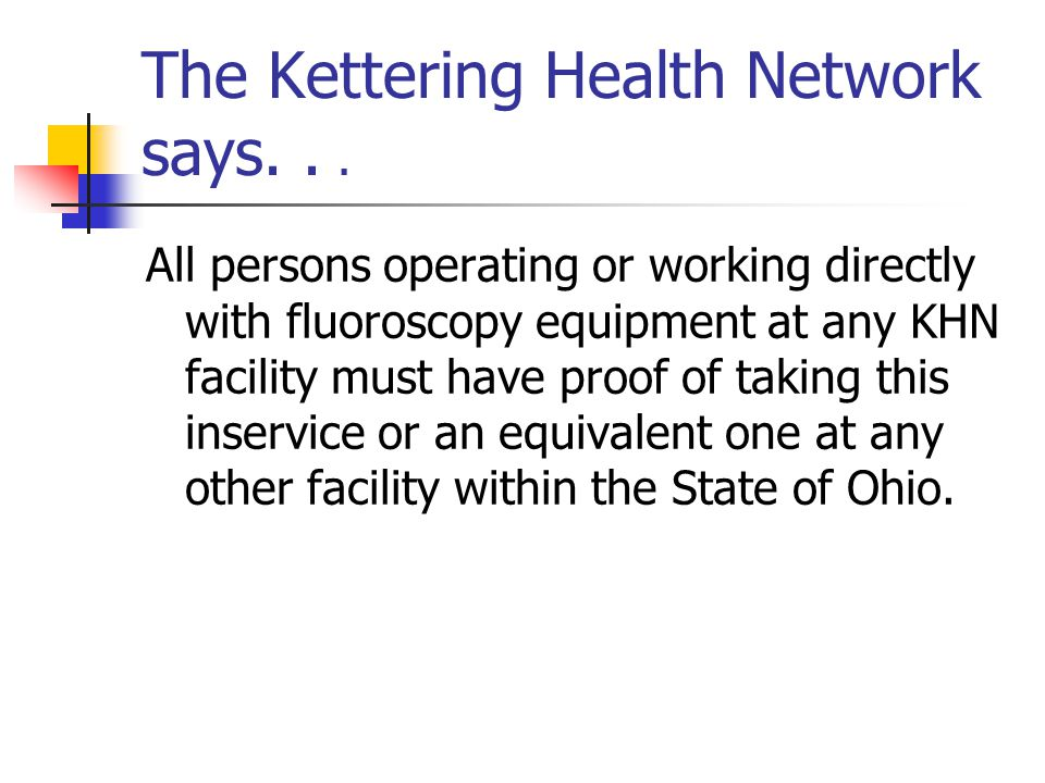 The Kettering Health Network says. . .