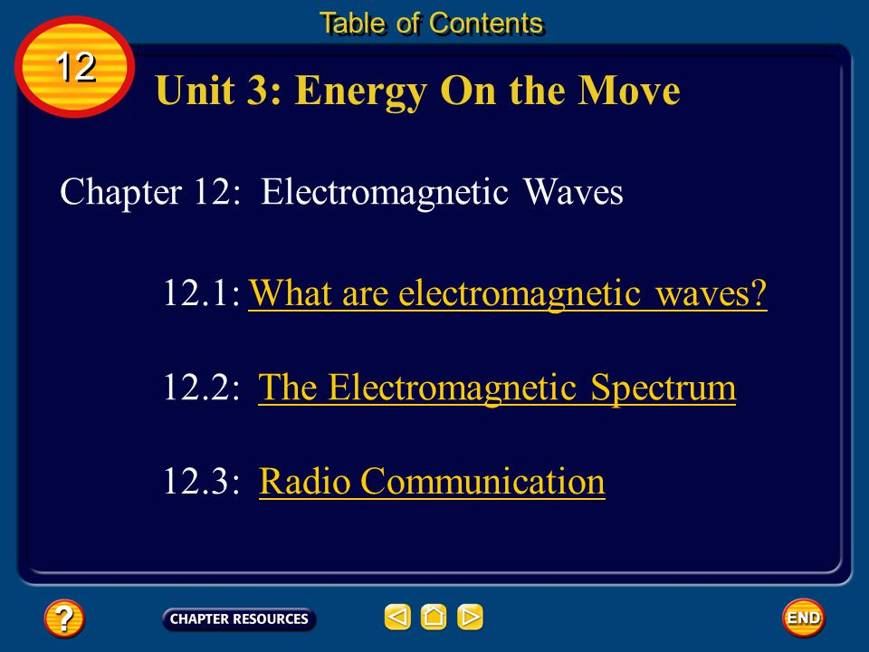 Unit 3: Energy On the Move