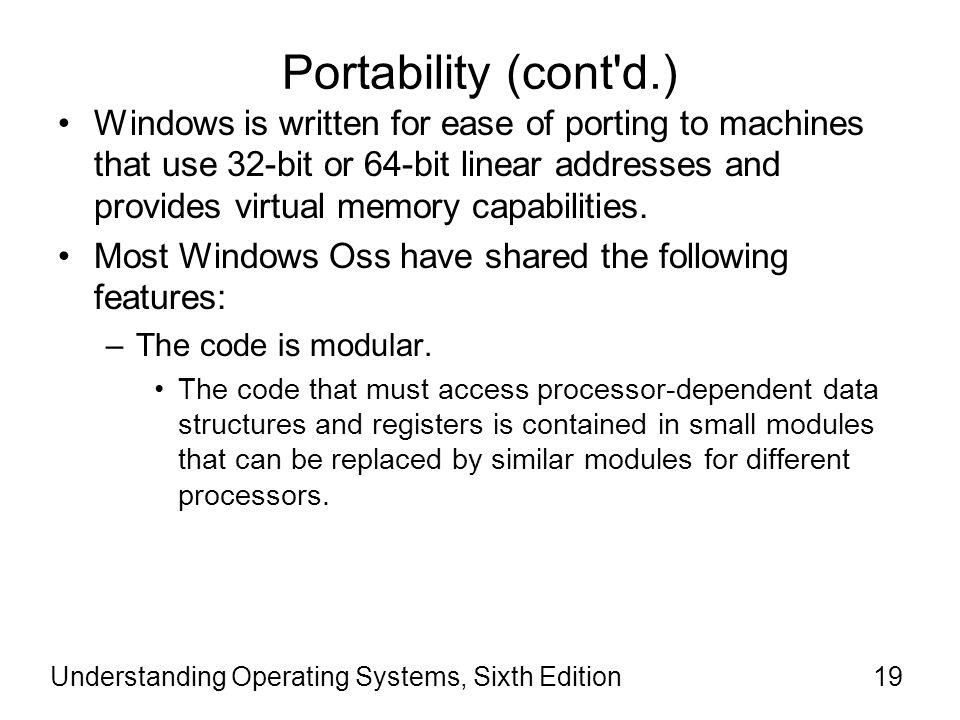 Portability (cont d.)