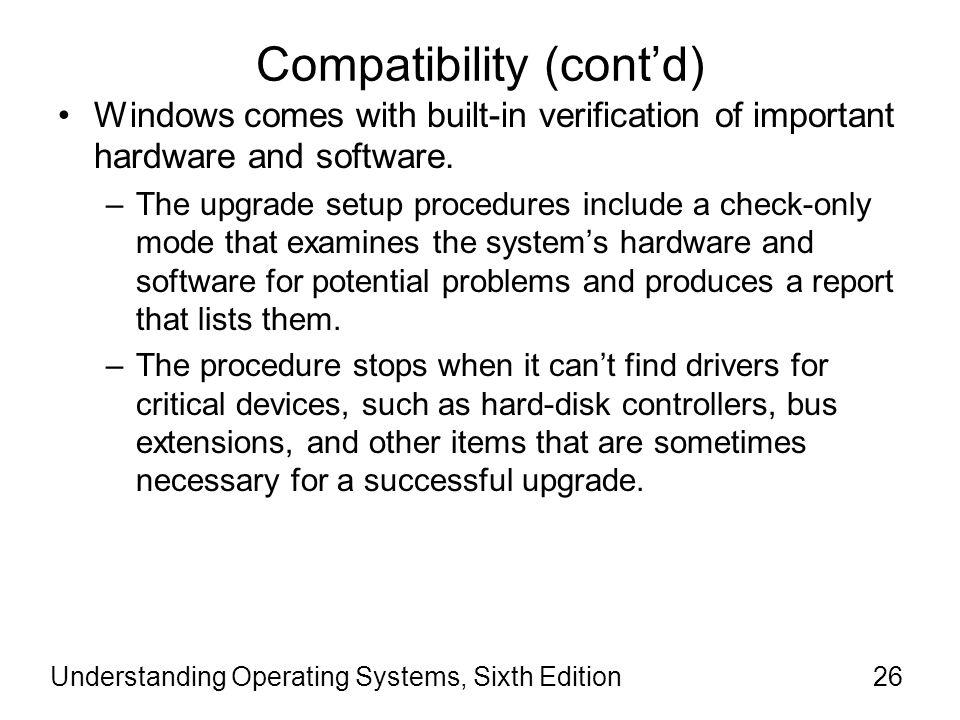 Compatibility (cont'd)